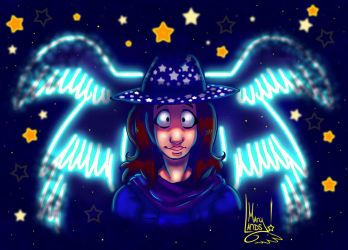 Hat full of stars by MarylandsDrawing2525
