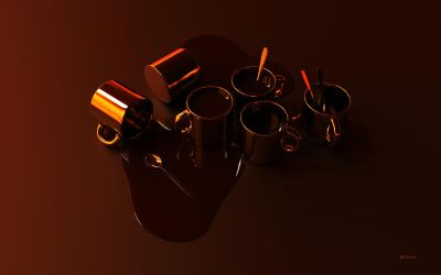 Spilled Coffee Wallpaper by kahvi