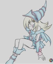 dark magician girl coloring  by argusZn