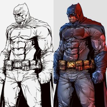 The Dark Knight colors by le0arts