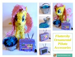 Fluttershy Pinata Accessories by C-quel