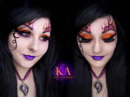 Sorceress Halloween Makeup (with Tutorial) by KatieAlves