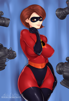 Elastigirl  going to reveal herself! by Ange1Witch