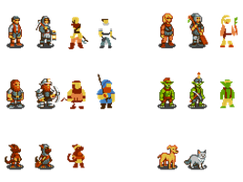 256-Color Dwarf Fortress Sprites by DragonDePlatino
