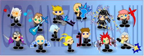 Chibi Organization XIII by LegendaryFrog