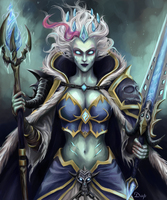 Frost Lich Jaina Proudmoore art - Hearthstone Wow by KiwiStarling