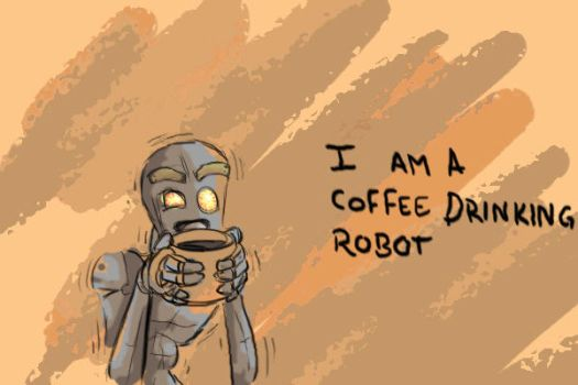 Coffee Drinking Robot by heartking52