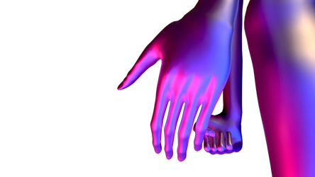 Hands of faceless creature by CreativityLazy