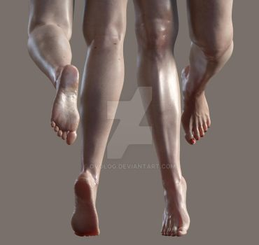 genesis 8 female feet@leg morph by ovolog