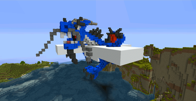 My View: Minecraft Cloud Dragon by lunchbox1234