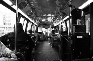 Inside a New York City Bus by hyperactive122986