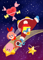 Kirby and the Crystal Shards by bradykettle