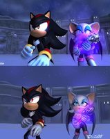 Shadow and Rouge [REDRAW] by Di-Dash