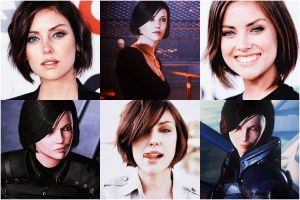 ME: Dreamcast - Jessica Stroup as Marian Shepard by LadyTheirin