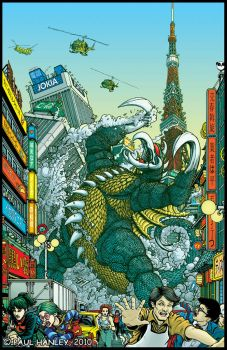 Mighty Daikaiju Gigan- color by PaulHanley