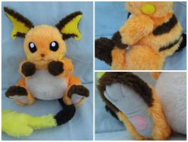 Fully Poseable Raichu plushie
