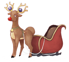 Rudolph the red nose Stantler