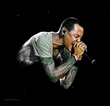 Chester Bennington by Elnyxa