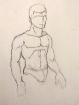 Another torso practice in 3/4 view by Gemrix