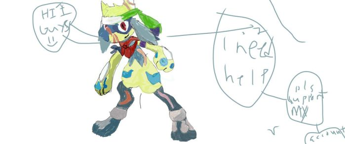 Help me my first drawing by riolu-gaming456