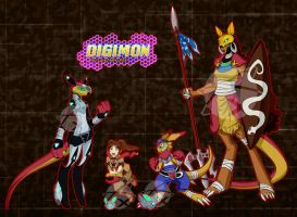 Digimon OC :GG and the Marsupial: by Xelku9