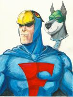 Blue Falcon and Dynomutt by protegeart