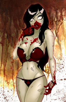Zombie Tramp Pin-Up by PatrickFinch