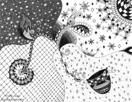 #8 Zendoodle Drawing by Aizenfree