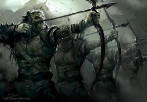 Orc Archers Squad by daRoz
