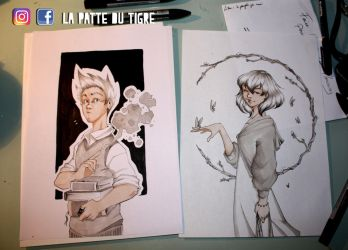 Double Marker - Witch boy Wood girl by Tiger-Lilyy