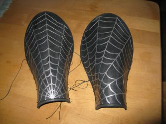 Spider-web Bracers by PsychoFaye