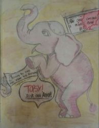 Topsy the living dead elephant~ by corajbae09