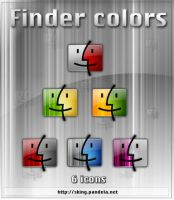 Finder Colors for dock by skingcito