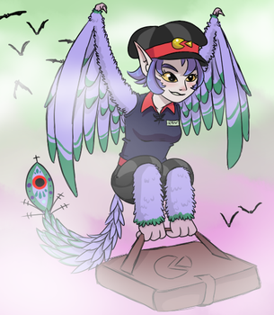 Pizza Harpy by thirsty-pocket