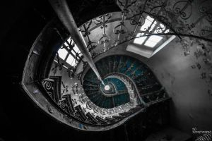 Blue Staircase by no-trespassing