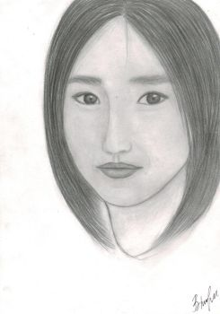 Art of girl, drawing pencils koh-i-noor by Tovika