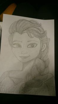 Drawing Elsa by OdioLosLunes
