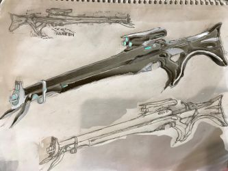 Tenno 'Harken' Support Sniper Rifle by HaruAxeman