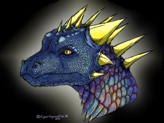 Dragon's face by CyberSquirrelFish