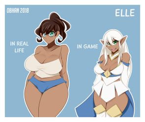 Elle Character Design by Obhan