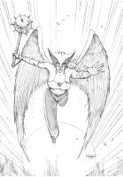Hawkgirl Commission by FlowComa