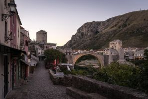 Mostar - empty streets. by LunaFeles