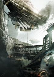 Airship Port by AdamBurn