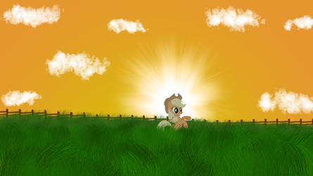 Apple Jack Wallpaper by MoonGazerThePony