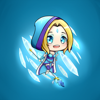 Rylai the Crystal Maiden - Chibi by Rokuuso