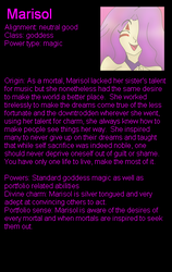 Marisol bio by LordTHawkeye