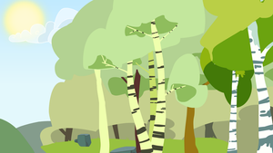 forest edge background by Nifty-senpai