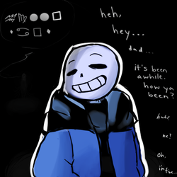 Dad? - Sans - Undertale by ehcyt