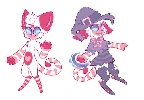 (sold) Peppermint Mage Kitty AUCTION by royalraptors