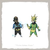 Little Friends - Black Lightning and Electro by darrenrawlings